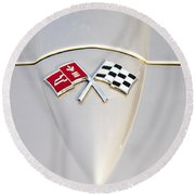 Corvette Emblem Round Beach Towel