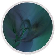 Cosmic Butterfly Round Beach Towel