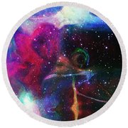 Cosmic Connection Round Beach Towel