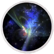 Cosmic Strands Of Gaseous Filament Round Beach Towel