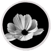 Cosmo Black And White Round Beach Towel