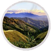 Costa Rica Rolling Hills 1 Round Beach Towel