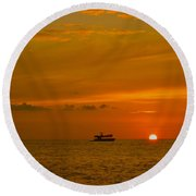Costa Rica Sunset Round Beach Towel