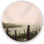 Cottage By The Sea Barra Round Beach Towel