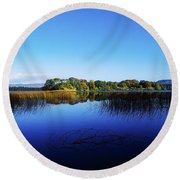 Cottage Island, Lough Gill, Co Sligo Round Beach Towel