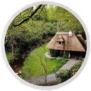 Cottage Ornee Tearoom, Kilfane Glen, Co Round Beach Towel