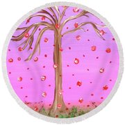 Cotton Candy Sky Wishing Tree Round Beach Towel