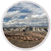 Cottonwood Canyon Badlands Round Beach Towel