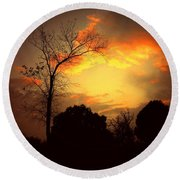 Cottonwood Sunset Round Beach Towel