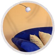 Couch Round Beach Towel by Joana Kruse