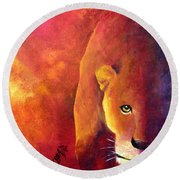 Cougar - Out Of The Shadows Round Beach Towel