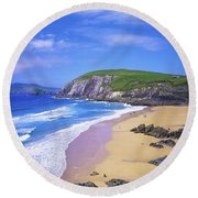 Coumeenoole Beach, Dingle Peninsula, Co Round Beach Towel