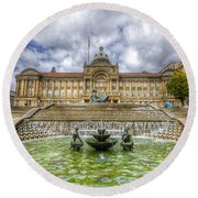 Council House And Victoria Square - Birmingham Round Beach Towel