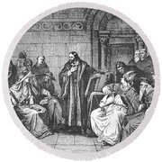 Council Of Constance, 1414 Round Beach Towel
