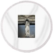 Count Your Blessings- St Mary Of Brugge- 01 Round Beach Towel