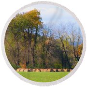 Country Bails Round Beach Towel