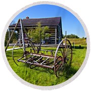 Country Classic Paint Filter Round Beach Towel
