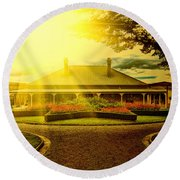 Country Estate Round Beach Towel