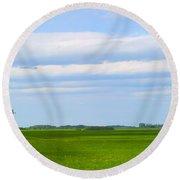 Country Grain Elevator Panoramic Round Beach Towel