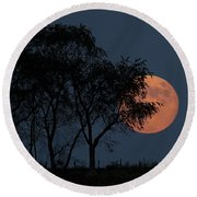Country Moon  Round Beach Towel