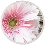 Country Pink Round Beach Towel