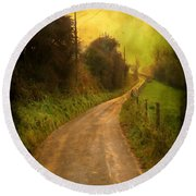 Countryside Road Round Beach Towel