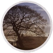 County Tyrone, Ireland Winter Morning Round Beach Towel