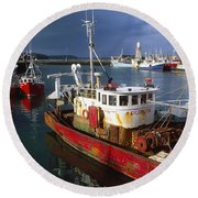 County Waterford, Ireland Fishing Boats Round Beach Towel