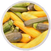 Courgettes Round Beach Towel
