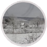 Courrier And Ives Winter Round Beach Towel