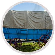 Covered Wagon Round Beach Towel