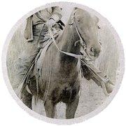 Cowboy Robber, C1900 Round Beach Towel