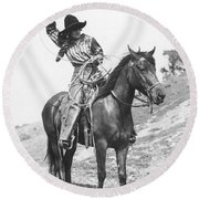 Cowgirl, C1920 Round Beach Towel