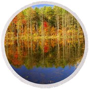 Coxsackie Reflection Round Beach Towel