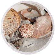 Crab Shell Round Beach Towel