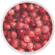 Cranberries Round Beach Towel