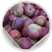 Crate Of Apples Round Beach Towel by Kimberly Perry