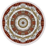 Creame Cake Abstracte Round Beach Towel