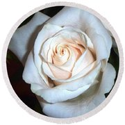 Creamy Rose Round Beach Towel
