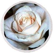 Creamy Rose IIi Round Beach Towel