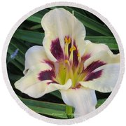 Creamy White Lily Round Beach Towel