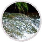 Creek Water Splash Round Beach Towel