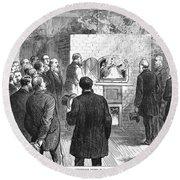 Cremation, 1876 Round Beach Towel