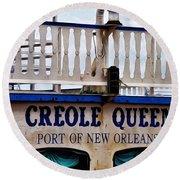 Creole Queen Round Beach Towel