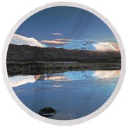Crianlarich Sunset Round Beach Towel
