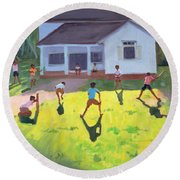 Cricket Round Beach Towel by Andrew Macara