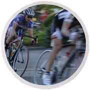 Criterium Bicycle Race 4 Round Beach Towel