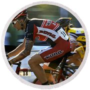 Criterium Bicycle Race1 Round Beach Towel