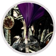 Crocus In A Bottle Number Two Round Beach Towel