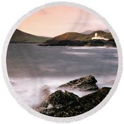 Cromwell Point Lighthouse, Valentia Round Beach Towel